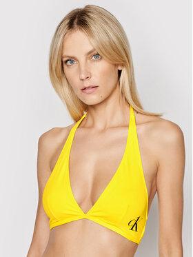 Calvin Klein Swimwear Calvin Klein Swimwear Горнище на бански Halter KW0KW01306 Жълт