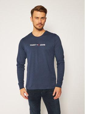 Tommy Jeans Tommy Jeans Тениска с дълъг ръкав Traight Logo Tee DM0DM09368 Тъмносин Regular Fit