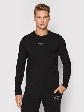 KARL LAGERFELD KARL LAGERFELD Тениска с дълъг ръкав 755054 512221 Черен Regular Fit
