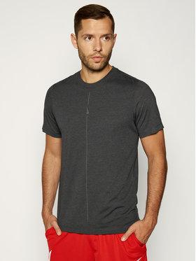 NIKE NIKE Тениска от техническо трико Yoga Dri-Fit CT6476 Сив Regular Fit