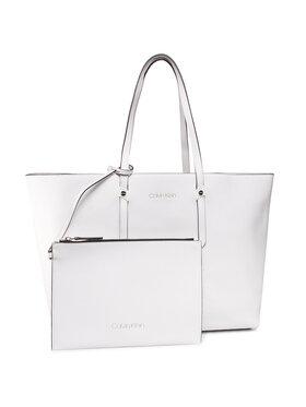Calvin Klein Calvin Klein Sac à main Ck Everyday Ew Shopper Open Lg K60K606842 Blanc