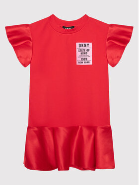 DKNY DKNY Ежедневна рокля D32800 M Червен Regular Fit