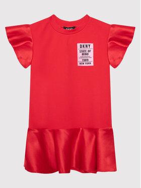DKNY DKNY Každodenné šaty D32800 M Červená Regular Fit
