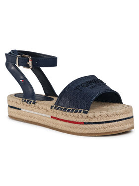 TOMMY HILFIGER TOMMY HILFIGER Espadrilės Tropical Fade Opened Espadrille FW0FW04964 Tamsiai mėlyna