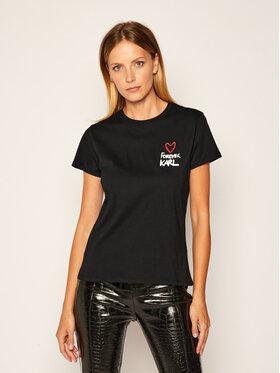 KARL LAGERFELD KARL LAGERFELD T-shirt Forever 205W1702 Noir Regular Fit