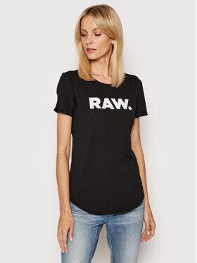 G-Star Raw G-Star Raw T-Shirt Lyon D19950-4107-6484 Czarny Slim Fit