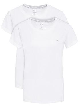 Calvin Klein Underwear Calvin Klein Underwear 2 marškinėlių komplektas Lounge 000QS6442E Balta Regular Fit