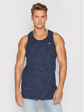 Tommy Jeans Tommy Jeans Tank top Racer Back DM0DM10887 Granatowy Relaxed Fit
