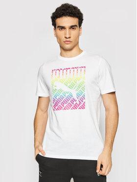 Puma Puma T-Shirt Pride 587777 Biały Regular Fit