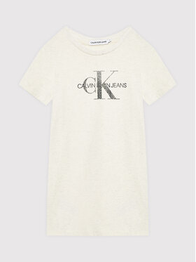 Calvin Klein Jeans Calvin Klein Jeans Ежедневна рокля Reptile Monogram IG0IG01204 Бежов Regular Fit
