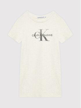 Calvin Klein Jeans Calvin Klein Jeans Kleid für den Alltag Reptile Monogram IG0IG01204 Beige Regular Fit