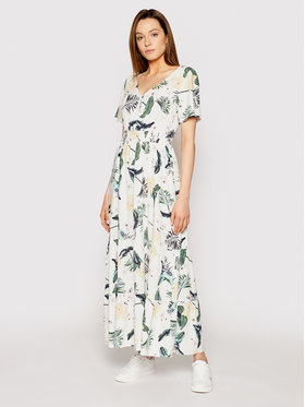 Roxy Roxy Ежедневна рокля Paradise Song ERJWD03545 Бял Regular Fit
