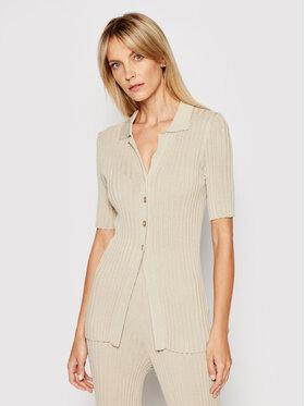 NA-KD NA-KD Halenka Ribbed Knitted Button Top 1018-006865-8909-003 Zelená Slim Fit