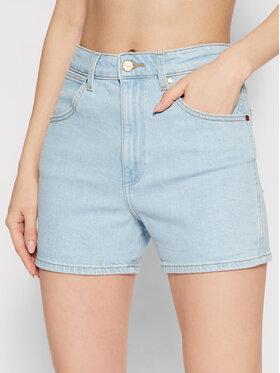 Wrangler Wrangler Szorty jeansowe W22DZH25E Niebieski Mom Fit