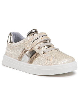 Tommy Hilfiger Tommy Hilfiger Sneakersy Low Cut Lace-Up T1A4-31014-1160 S Złoty