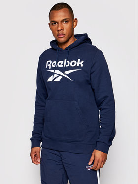 Reebok Reebok Felpa Identity Big Logo GQ3538 Blu scuro Regular Fit