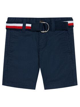 Tommy Hilfiger Tommy Hilfiger Szorty materiałowe Essential Belted Chino KB0KB05769 M Granatowy Slim Fit