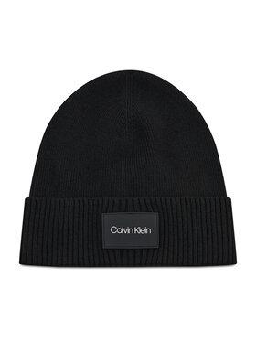 Calvin Klein Calvin Klein Шапка Ttw Patch Rib Beanie K50K507529 Черен