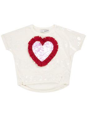 Desigual Desigual T-Shirt Northampton 20SGTK28 Bílá Regular Fit