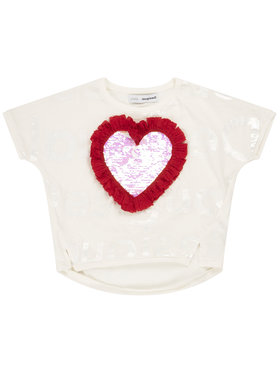 Desigual Desigual T-Shirt Northampton 20SGTK28 Weiß Regular Fit