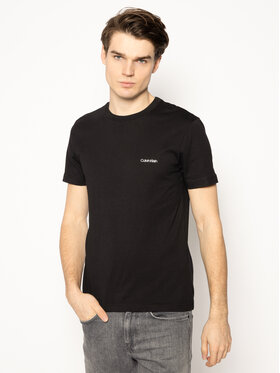 Calvin Klein Calvin Klein T-Shirt Chest Logo K10K104062 Czarny Regular Fit