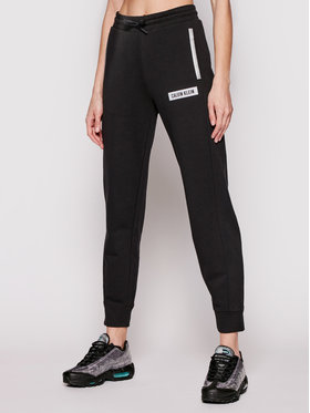 Calvin Klein Performance Calvin Klein Performance Teplákové nohavice Pw 00GWS1P631 Čierna Regular Fit