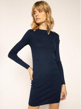 Patrizia Pepe Úpletové šaty 8A0679/A6G6-C789 Tmavomodrá Slim Fit