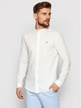 Tommy Jeans Tommy Jeans Chemise Tjm Mao Linen Blend DM0DM10617 Blanc Slim Fit