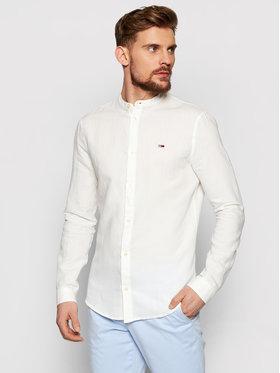 Tommy Jeans Tommy Jeans Koszula Tjm Mao Linen Blend DM0DM10617 Biały Slim Fit