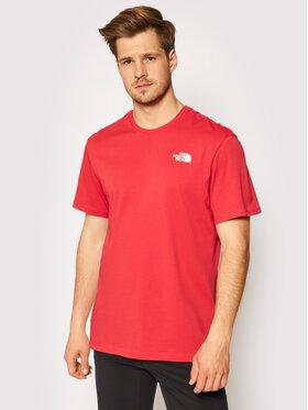 The North Face The North Face T-Shirt Red Box NF0A2TX2V341 Červená Regular Fit