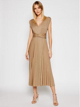 Marella Marella Коктейлна рокля Arnica 362101112 Златист Regular Fit