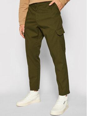Imperial Imperial Bavlnené nohavice PD1VBHUAL Zelená Regular Fit