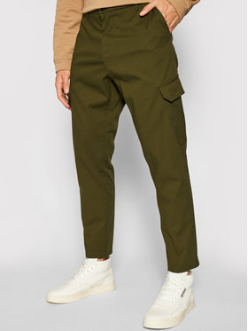 Imperial Imperial Pantalon en tissu PD1VBHUAL Vert Regular Fit