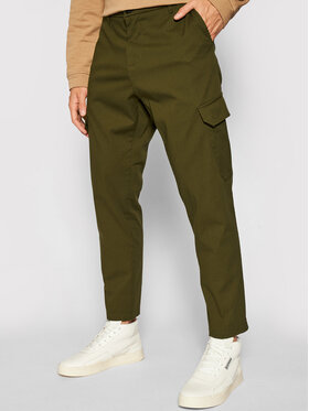 Imperial Imperial Pantaloni di tessuto PD1VBHUAL Verde Regular Fit