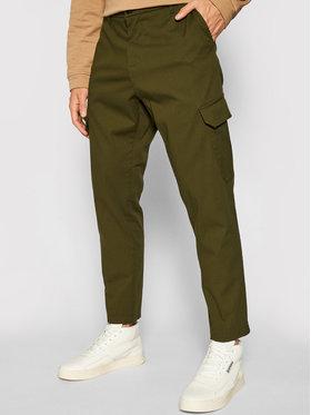 Imperial Imperial Spodnie materiałowe PD1VBHUAL Zielony Regular Fit