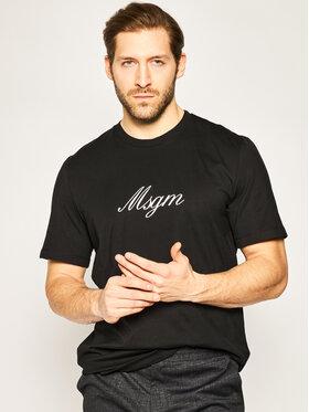 MSGM MSGM T-shirt 2840MM237 207098 Noir Regular Fit