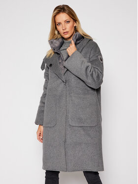 Blauer Blauer Płaszcz wełniany Donna 20WBLDK05031 005831 Szary Regular Fit