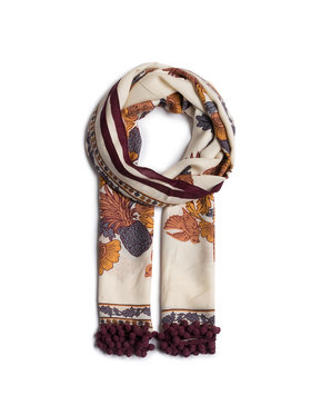 Tory Burch Tory Burch Fular Wonderland Vine Embellished Oblong 72036 Bej