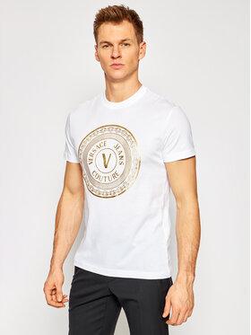 Versace Jeans Couture Versace Jeans Couture Marškinėliai B3GWA7TE Balta Slim Fit