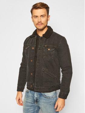Wrangler Wrangler Kurtka jeansowa Sherpa W4MSB5236 Czarny Regular Fit