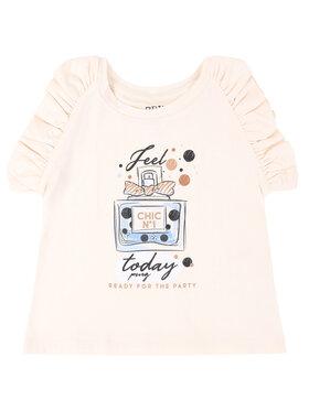 Primigi Primigi T-Shirt Feel Chic Today 45232521 Beżowy Regular Fit