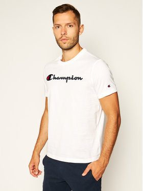 Champion Champion T-shirt Logo 214194 Blanc Comfort Fit
