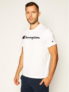 Champion Champion Tricou Logo 214194 Alb Comfort Fit