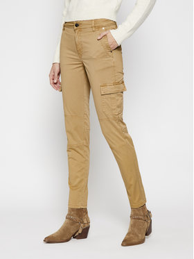 Guess Guess Pantaloni din material Sexy Cargo W1RB14 WDPA1 Maro Slim Fit