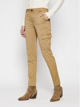 Guess Guess Spodnie materiałowe Sexy Cargo W1RB14 WDPA1 Brązowy Slim Fit