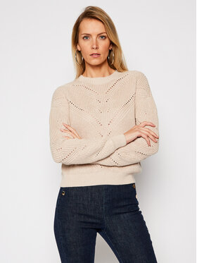 Guess Guess Megztinis Emma W1RR00 Z2BB0 Smėlio Relaxed Fit