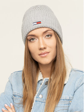 Tommy Jeans Tommy Jeans Bonnet Tjw Basic Flag Rib Beanie AW0AW07223 Gris