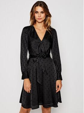 TOMMY HILFIGER TOMMY HILFIGER Φόρεμα κοκτέιλ Polka Dot Fit&Flare Wrap WW0WW29306 Μαύρο Regular Fit