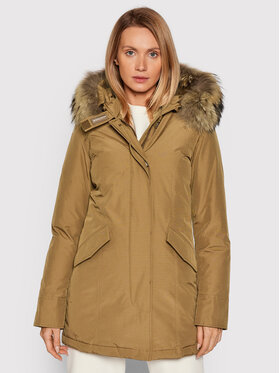 Woolrich Woolrich Zimná bunda Arctic Raccoon CFWWOU0538FRUT0001 Hnedá Regular Fit