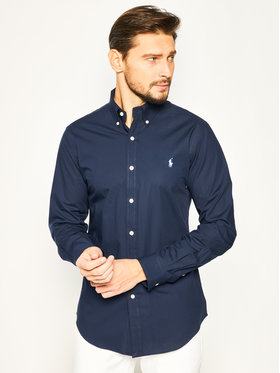 Polo Ralph Lauren Polo Ralph Lauren Marškiniai Bsr 710705269 Tamsiai mėlyna Slim Fit